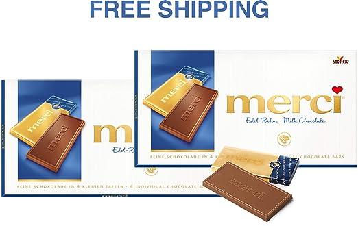 Comprimidos de chocolate Merci – Crema fina 2 x 3.53 oz ...