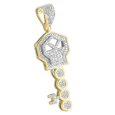Major Key Pendant 10k Yellow Gold Rick Ross Real Diamonds Custom Mens 13 Inch Charm