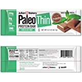 Julian Bakery Paleo Thin Protein Bar | Chocolate Mint | Grass-Fed Beef | 20g Protein | 2 Net Carbs | 12 Bars