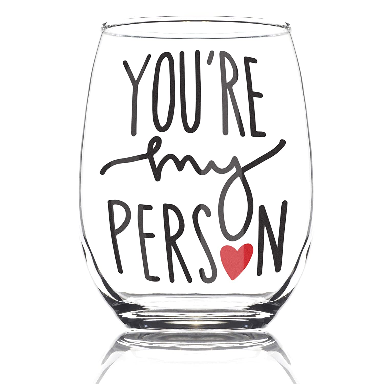 Amazon Youre My Person 15oz Stemless Wine Glass Bff Gifts