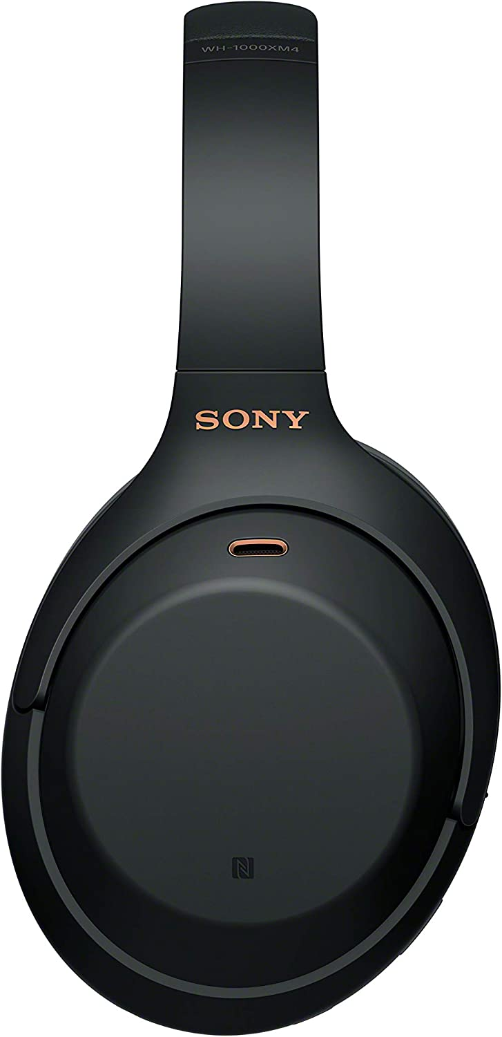 Sony WH-1000XM4 Wireless Noise-Cancelling Over-The-Ear Headphones Renewed Black