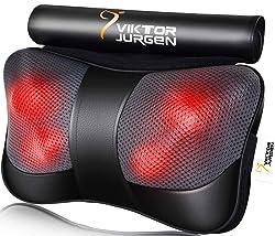 VIKTOR JURGEN Shiatsu Neck Massage Pillow with Heat