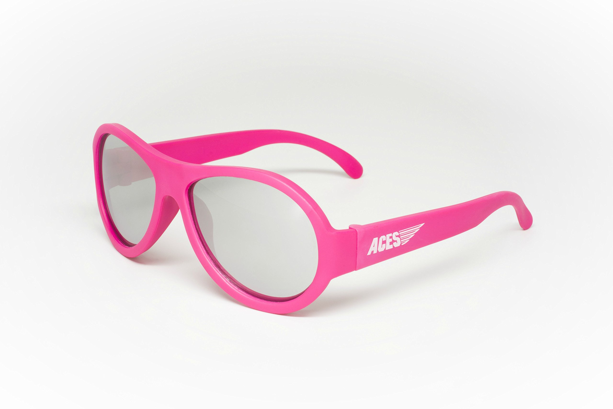 Aces - Fueled by Babiators Aviator sunglasses, Popstar Pink with Mirrored Lenses