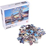 TOYANDONA Jigsaw Puzzle 1000 Pieces for Adults Tower Bridge DIY Famous Building Puzzles Educational Game For Adults…