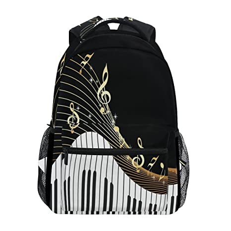 6bd286ee4731 Image Unavailable. Image not available for. Color  WXLIFE Piano Keyboard  Music Note Backpack Travel School Shoulder Bag for Kids Boys Girls Women Men