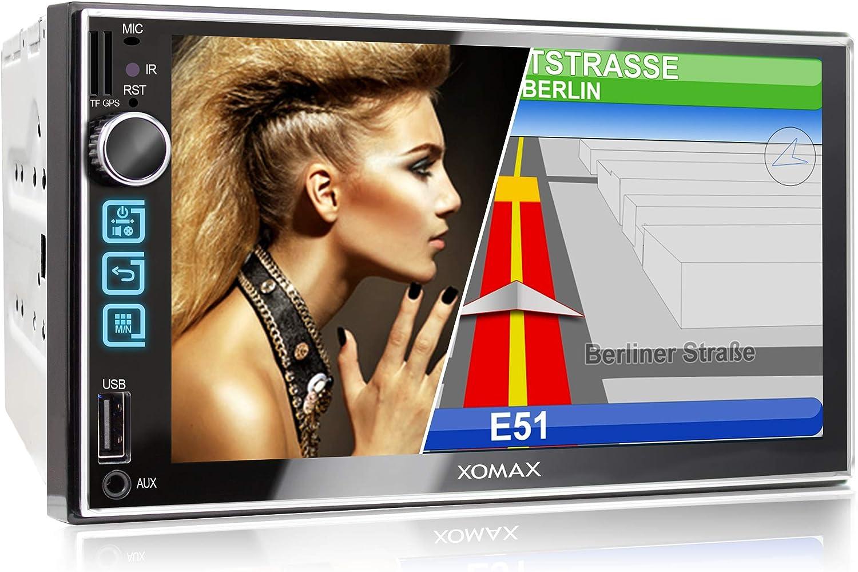 XOMAX XM-2VN752 Radio de Coche I Autoradio con Navegación GPS I Bluetooth Manos Libres I 7