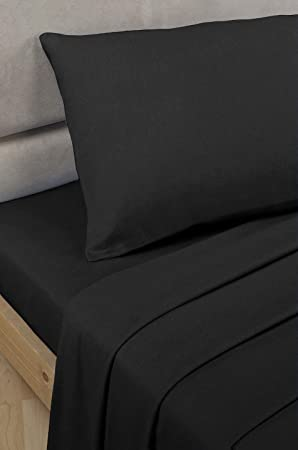 Bedding Heaven 2u0027 6u0026quot; Percale Fitted Sheet. BLACK. Ideal For Bunk Bed