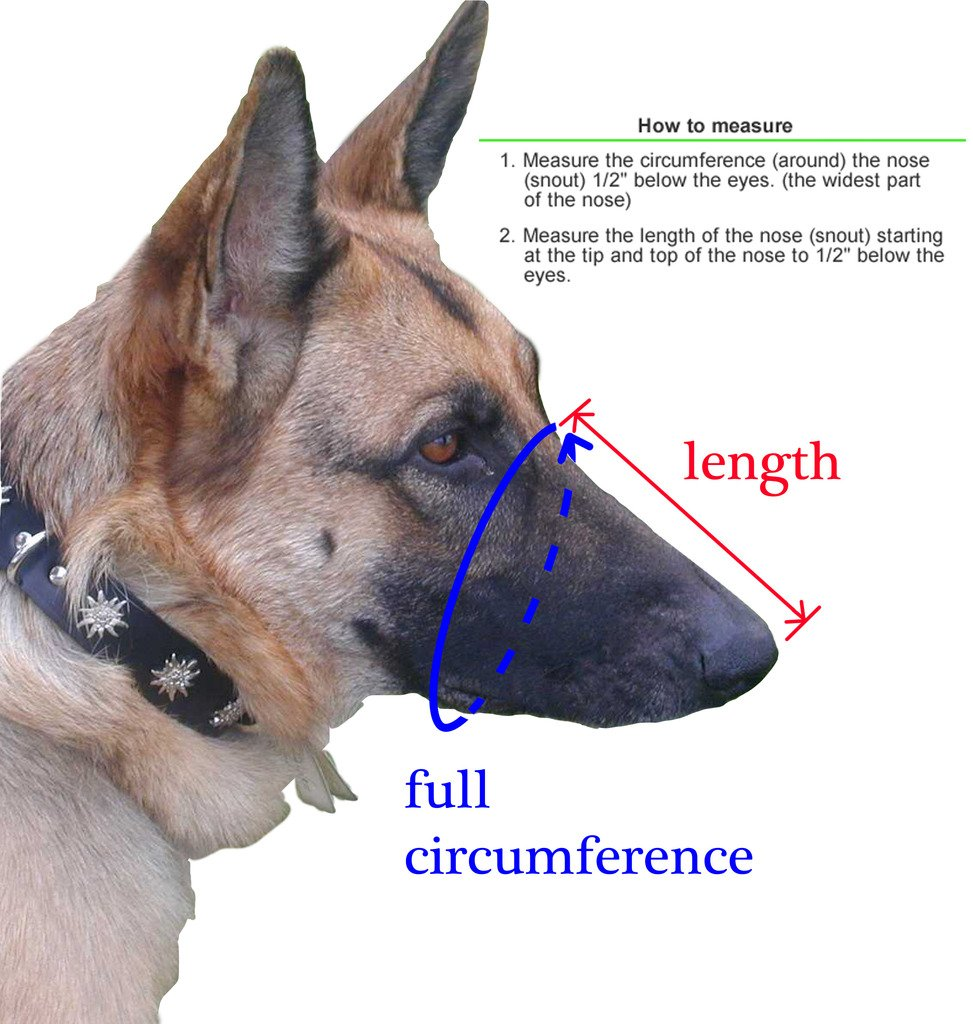 Viper Charlie Reinforced Police Style Muzzle for Dogs