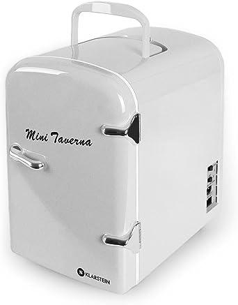 Glacière Design Mini Frigo Bar Réfrigérateur Prise Allume Cigare 15L Argent