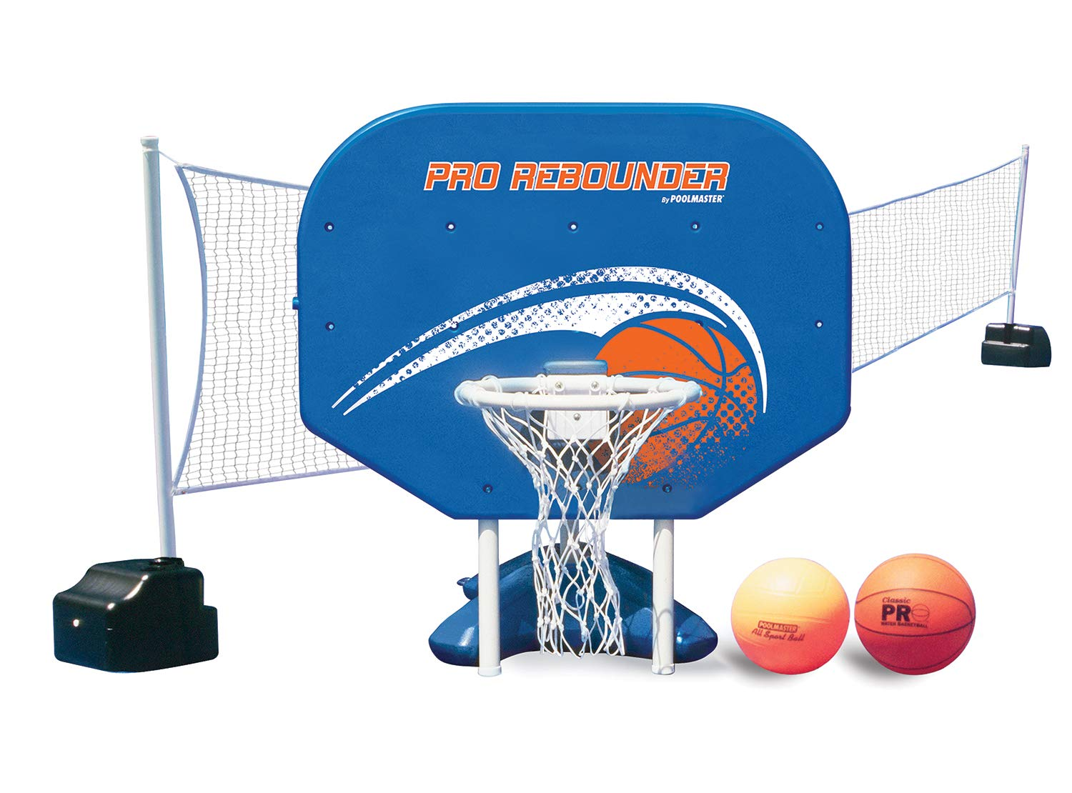 Poolmaster Pro Rebounder Swimming Pool Basketball and Volleyball Game Combo, In-Ground Pool by Poolmaster