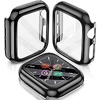 LeYi Funda para Apple Watch Series 6/SE/5/4 44mm Protector, 2 Piezas PC Case y Templado Vidrio Protector de Pantalla…