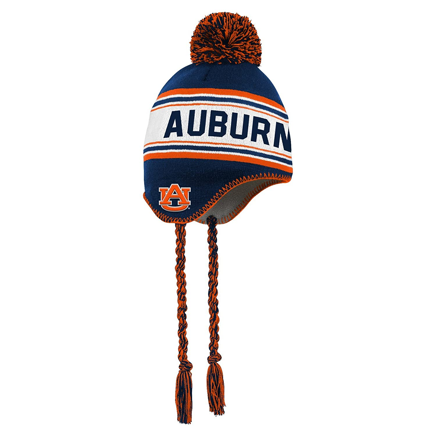 Team Color NCAA Auburn Tigers Toddler Outerstuff Jacquard Tassel Knit Hat w// Pom Toddler