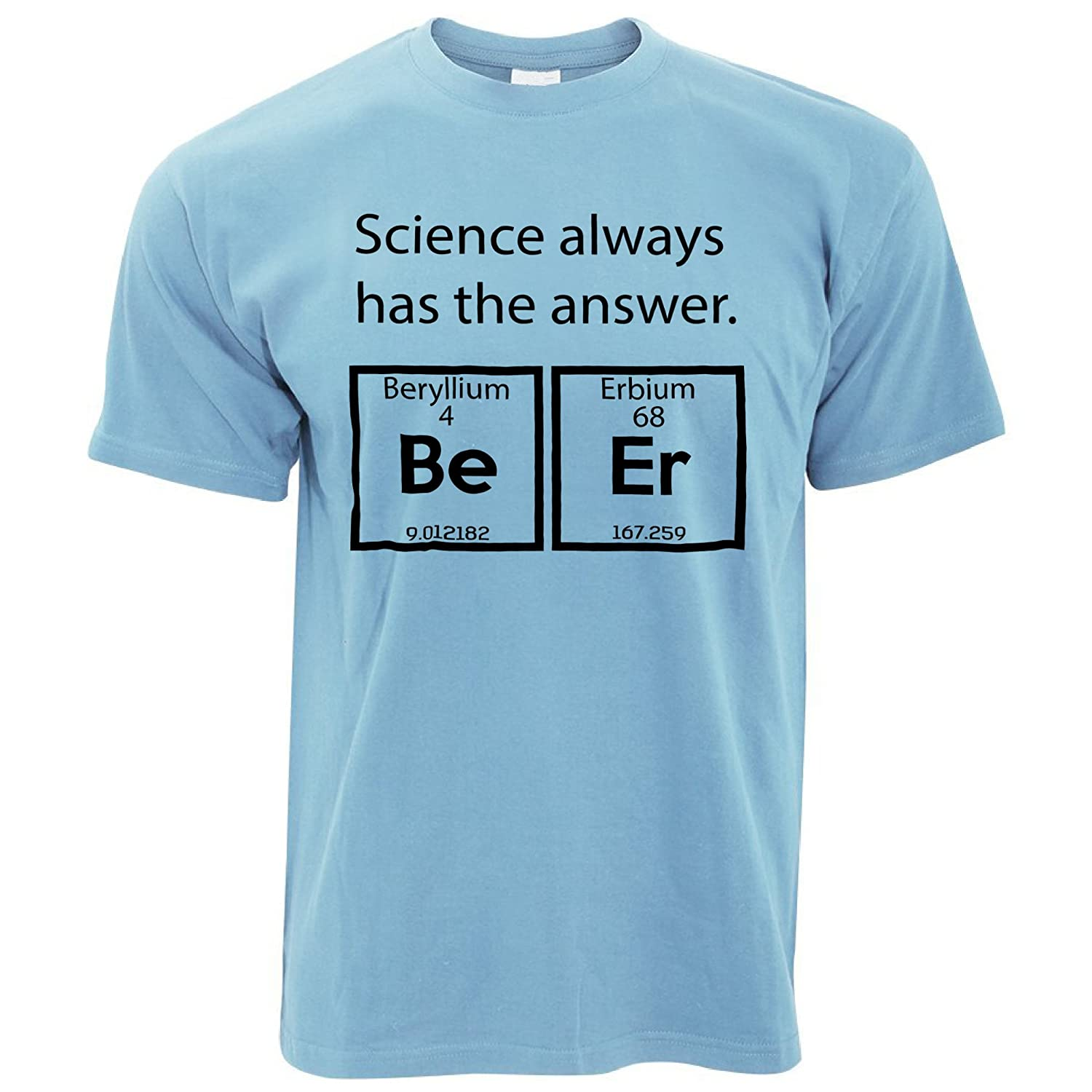 Tim And Ted Beryllium Erbium Beer Printed Design College Party Nerd Geek Science Scientific Chemisty Alcohol Mens T-Shirt Cool Funny Gift Present A-TS-00036x