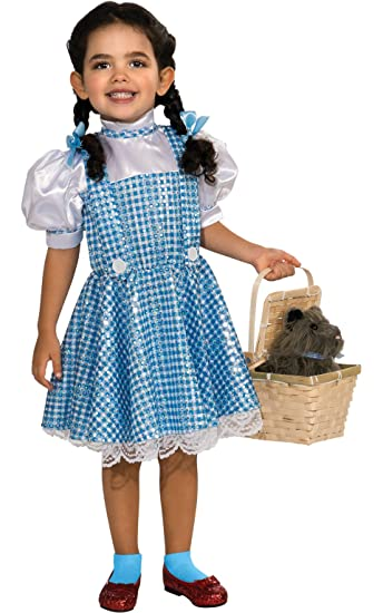 Amazon.com: Wizard of Oz Dorothy Sequin Costume, Toddler 1-2 (75th ...