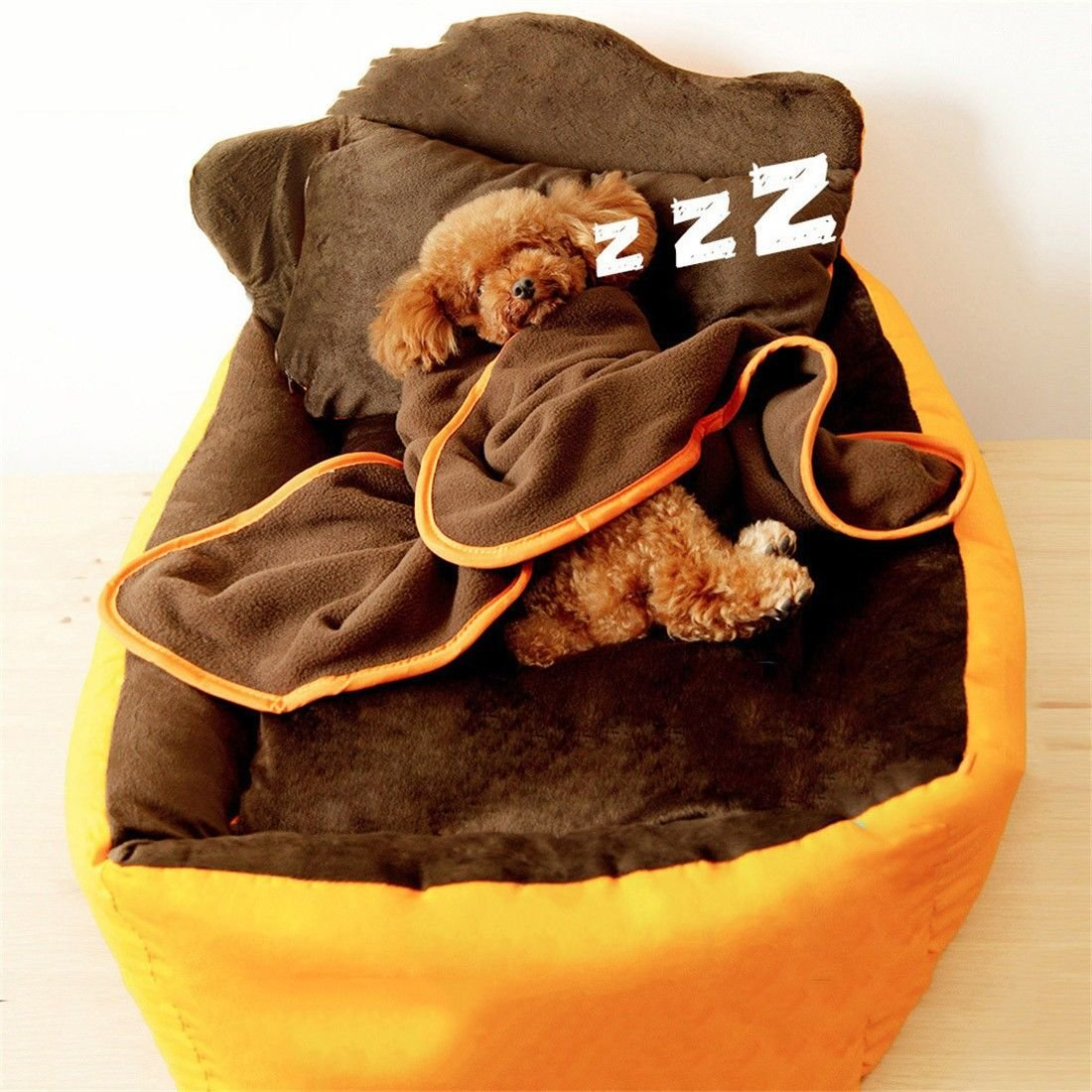 STAZSX Lettino per cani lavabile per per per cani Teddy Bomei Lettino per cani combattimenti oroen Retriever divano per cani letto piccolo cane medio, L  80X70X20CM 7d856e