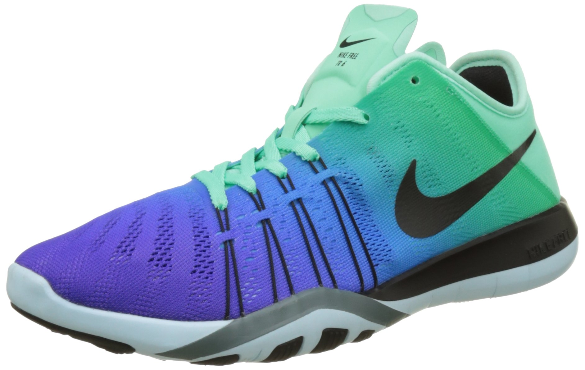 e5ff91f171d3 Galleon - Nike Women s Free TR 6 Spectrum Training Shoe Green Glow Black Glacier  Blue Hasta Size 6.5 M US