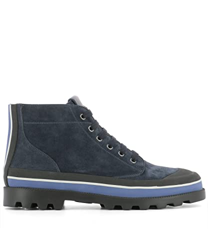 578789a6fe69e VALENTINO GARAVANI Men's NY2S0966UVSM30 Blue Suede Ankle Boots ...