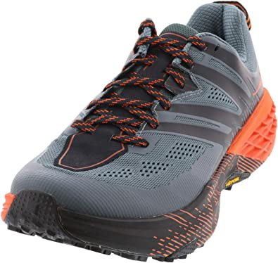 HOKA ONE One Speedgoat 3 Deportivas Hommes Gris/Naranja Running/Trail: Amazon.es: Zapatos y complementos