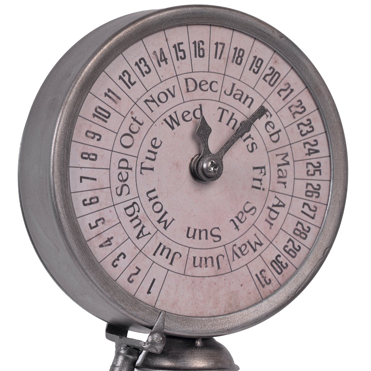 Nikky Home Vintage Standing Metal Perpetual Calendar Desktop for Decoration, White by NIKKY HOME (Image #6)