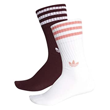 adidas Solid Calcetines Mixta, Unisex Adulto, DH3361, Maroon/White/White/Tactile Rose, FR : XS (Taille Fabricant : 27-30): Amazon.es: Deportes y aire libre