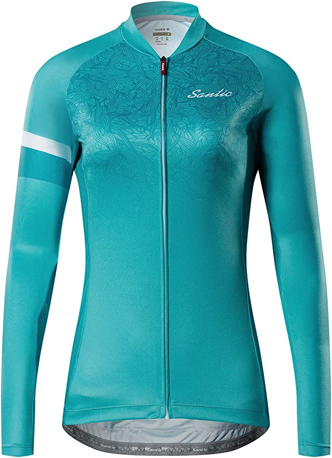Women/'s Starry Night Cat Long Sleeve Cycling Jersey