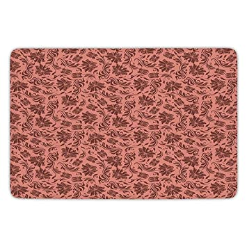 Amazon Com Bathroom Bath Rug Kitchen Floor Mat Carpet Peach