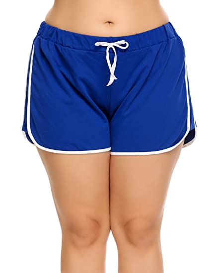 b266e61cee95 Blenko Women's Plus Size Running Workout Shorts Sports Gym Yoga Shorts  Beach Shorts