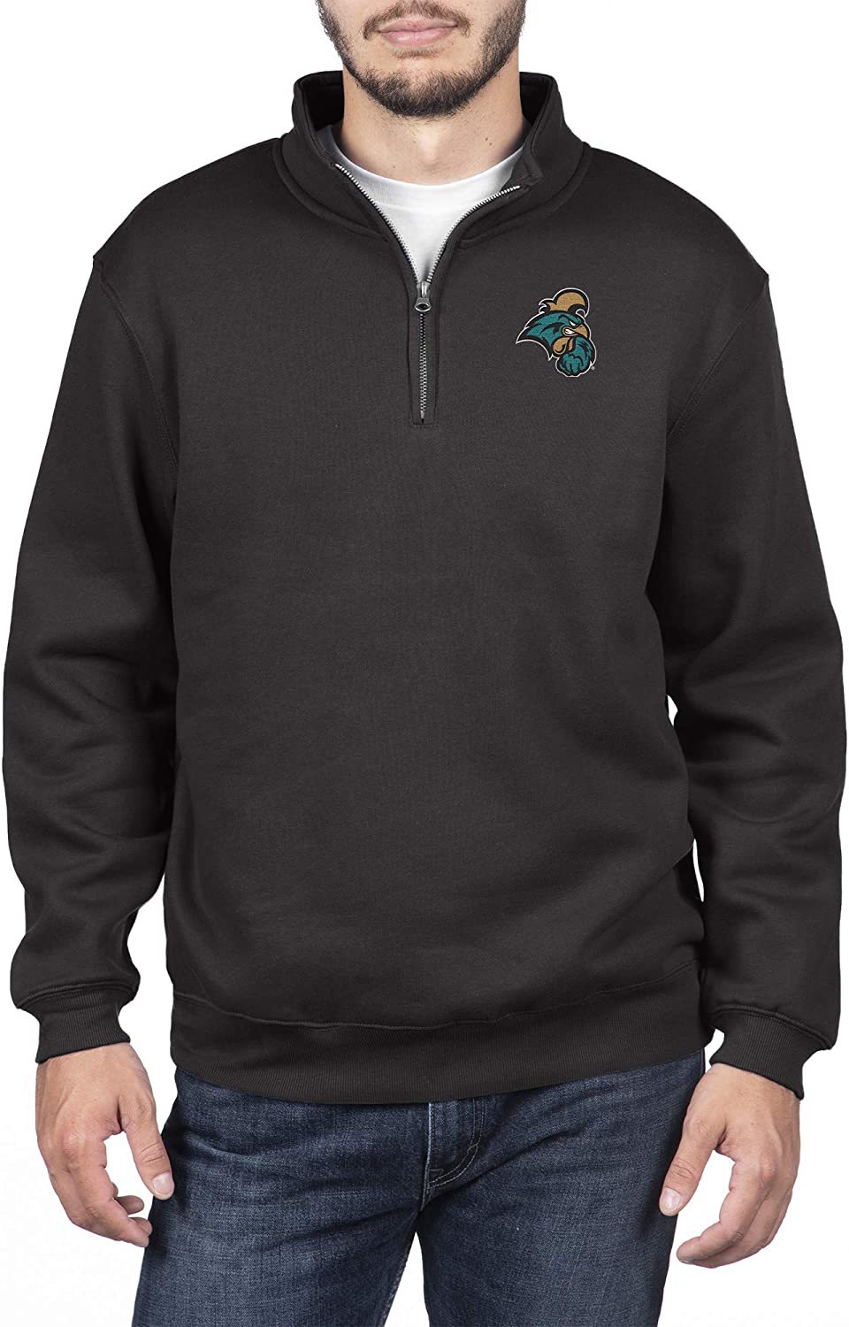 Top of the World Mens Team Color Classic Quarter Zip Pullover