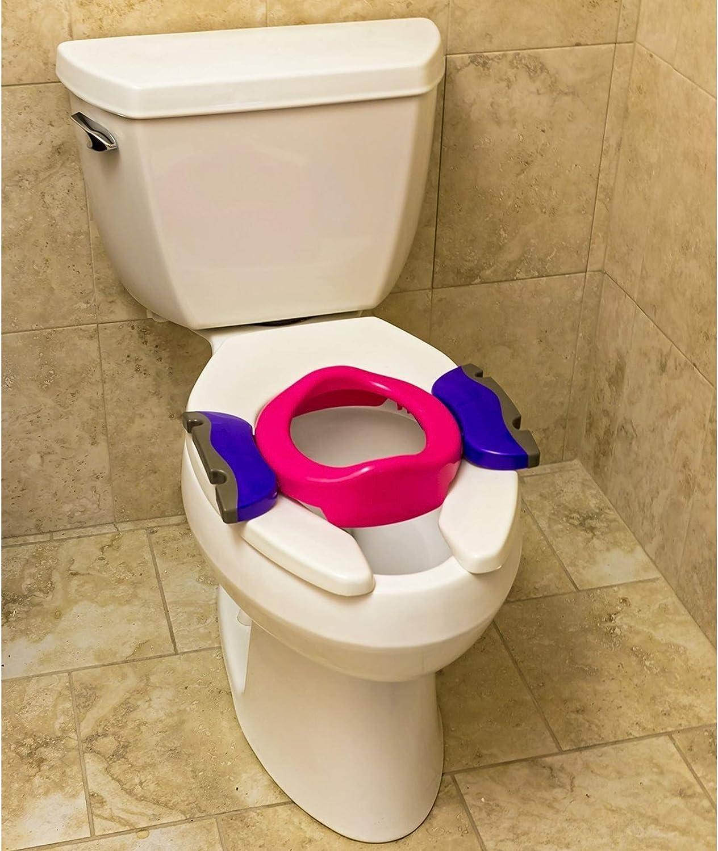 Pot de voyage R/éducteur de toilettes  2 en 1  Potette Plus Rose