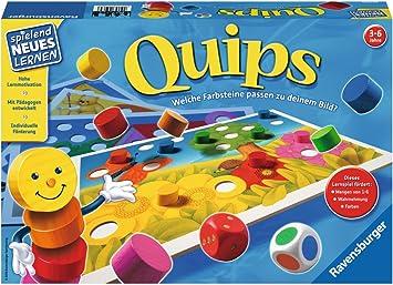 Ravensburger Quips Juego de Mesa de Aprendizaje - Juego de Tablero (Juego de Mesa de Aprendizaje, 15 min, 3 año(s), 340 mm, 230 mm, 60 mm): Amazon.es: Juguetes y juegos