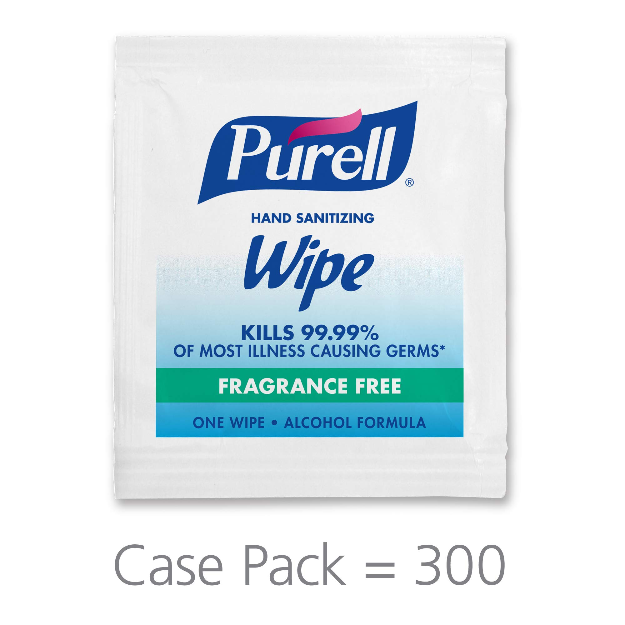 PURELL Hand Sanitizing Alcohol Formula Wipes, Fragrance Free, 300 Count Individually Wrapped Portable Wipes Packets (Pack of 300) - 9020-06-EC by Purell
