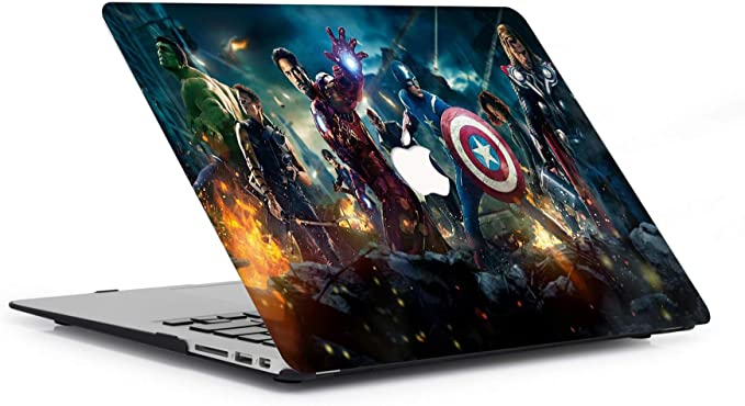 MacBook Air 11 Inch Case Model A1465//A1370 AJYX Laptop Protective Case Hard Plastic Shell The Avengers Pattern Cover R338 Super Hero
