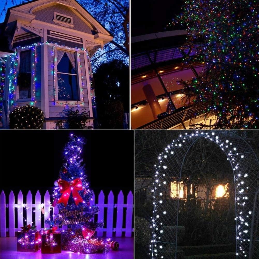 Tira De LED Recargable 10 M 20 M Luces De La Secuencia De Hadas Al Aire Libre A Prueba De Agua Patio Jardín Patio Fiesta Boda Navidad Decorativo (Emitting Color : Colorful-20M 200LED) Warm White-10m 100led