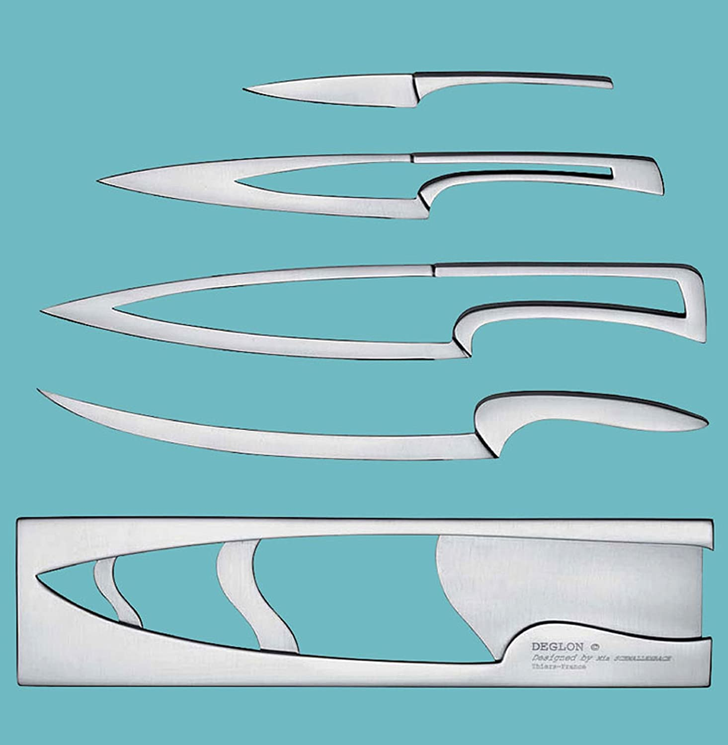 Amazon.com: Deglon Meeting Knife Set, Stainless Steel Knives and ...