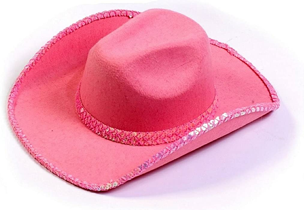 9594232995edd Amazon.com  Fun World Cowboy Hat Pink Sequin  Clothing