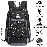 Camel Trekking Rucksacks Hiking Backpack Lightweight Travel Packable Rucksack Durable Waterproof Sports Daypack 30L