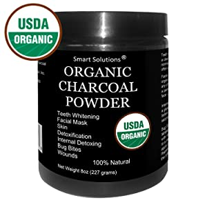 Organic Charcoal Powder - The Only USDA Certified Organic. Food Grade Powder, Non-GMO, Vegan, No Fillers 100% Pure Use for teeth Whitening Facial Masks Detoxing