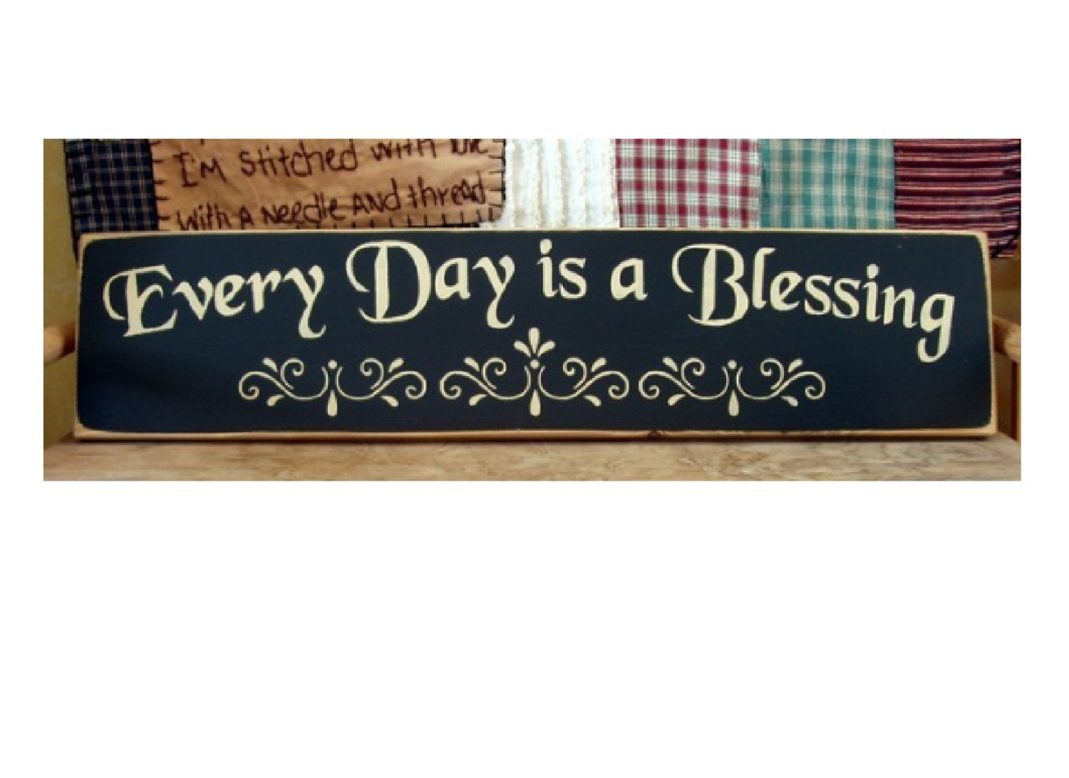 Tamengi Every Day Is A Blessing Wood Plank Plaque Sign 4''X 18''
