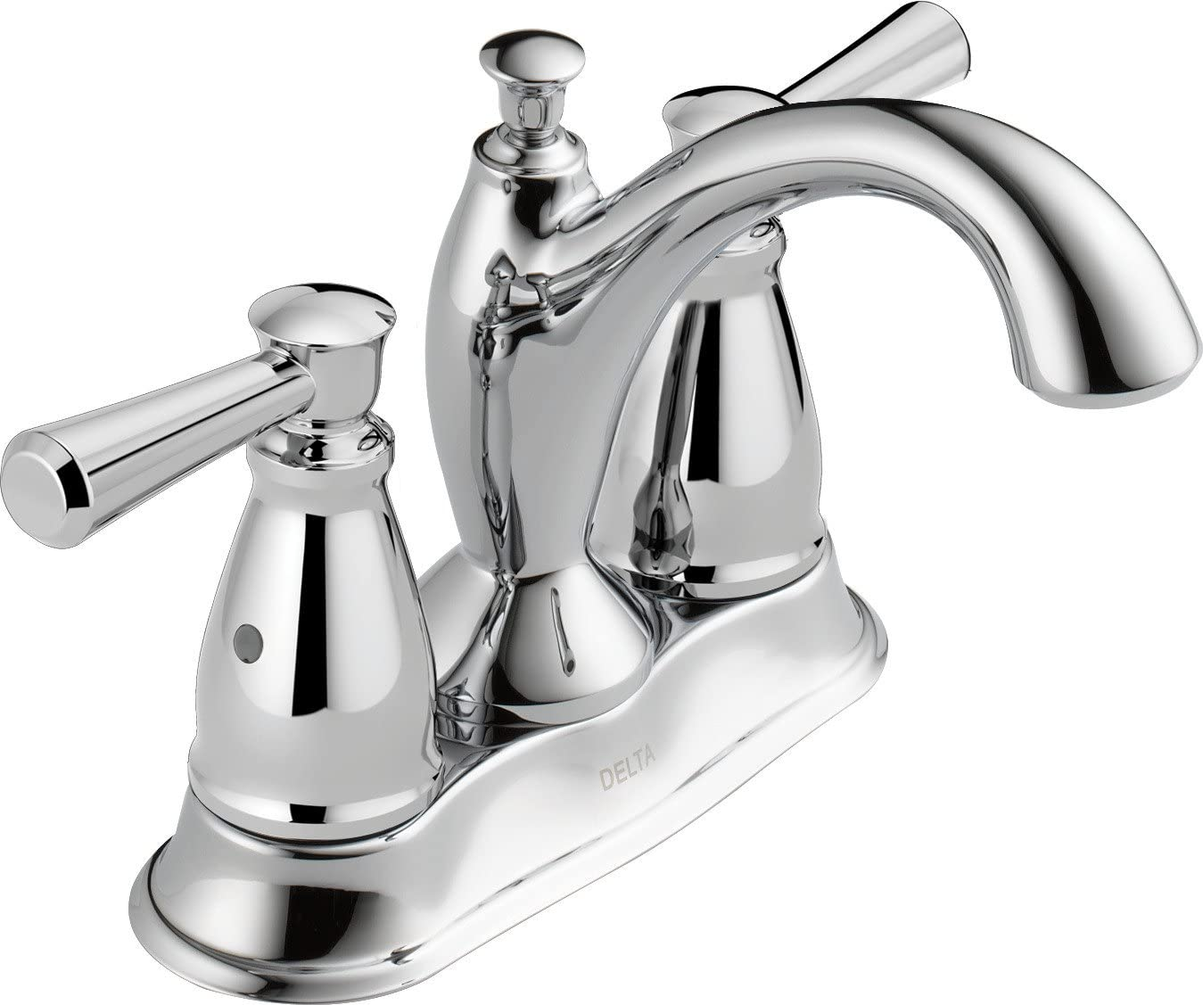 Delta Faucet Linden Centerset Bathroom Faucet Chrome, Bathroom Sink Faucet, Diamond Seal Technology, Metal Drain Assembly, Chrome 2593-MPU-DST