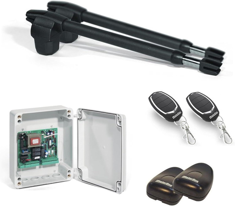Kit Completo Automatismo Motor Motorline para Puertas Batientes de 2 Hojas – Lince 400-230V / para Puertas de 2 Hojas de hasta 3 Metros Cada Hoja
