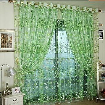 Upxiang Romantische Schiere Fenstervorhang, Vorhang Tüll,  Fensterbearbeitung, Voile Tüll Vorhang Schlaufen Transparent,