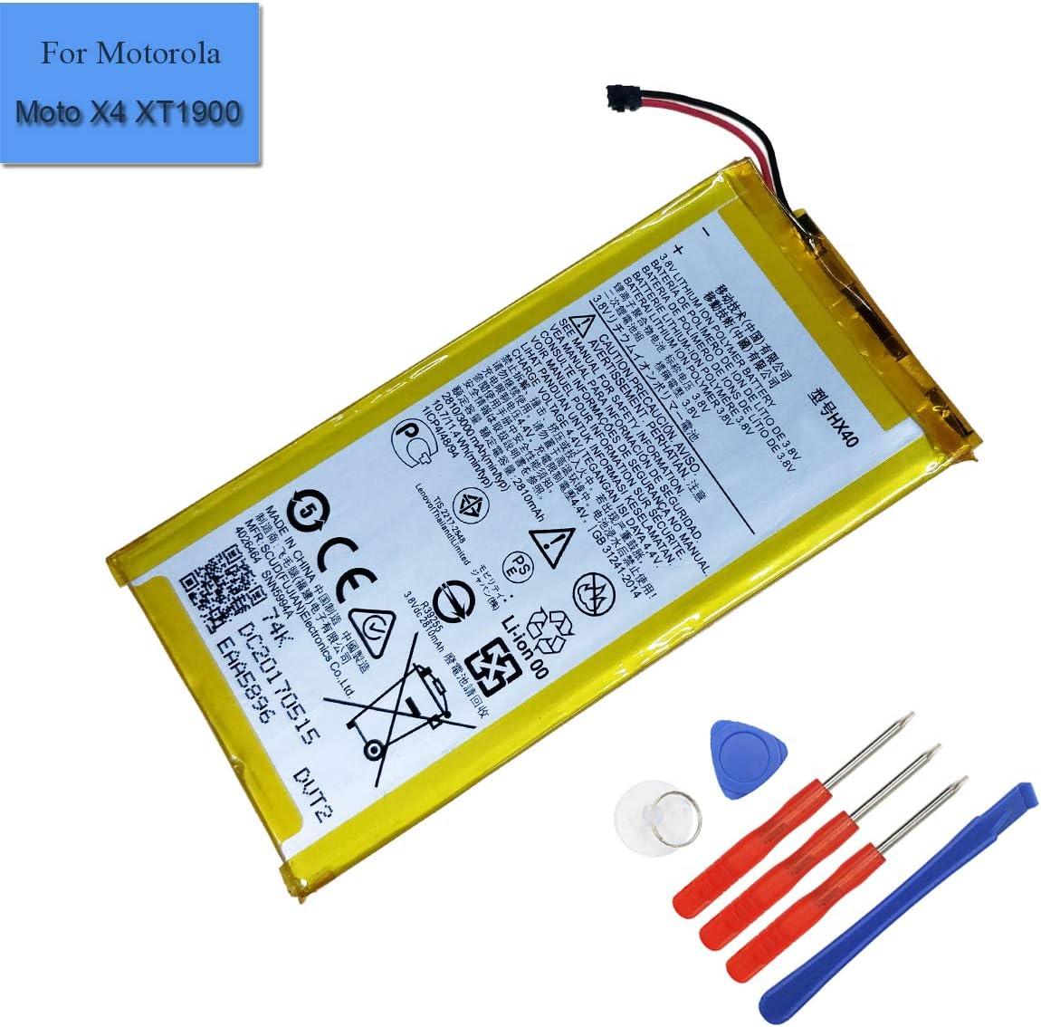 Bateria para polímero de litio HX40 para Moto X4 MotoX4 Dual