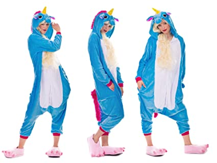 Amazinggirl Pyjamas Kostüm für Erwachsene und Kinder Unisex Cosplay Tierkostüme Einteiler