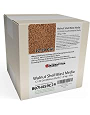 1.8 kg or 4 lb Ground Walnut Shell Media Abrasive 12-20 Grit for Tumbling, Vibratory or Blasting
