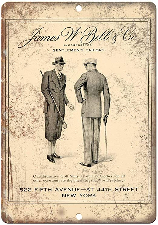 James W. Bell Golf Suits Póster De Pared Metal Retro Placa ...