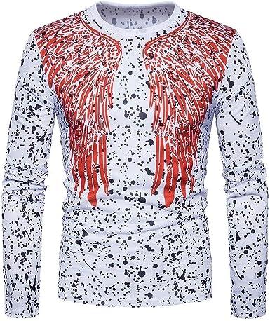 Camiseta Hombre con Puntos Básica Slim Rotos Camisa Fit ...