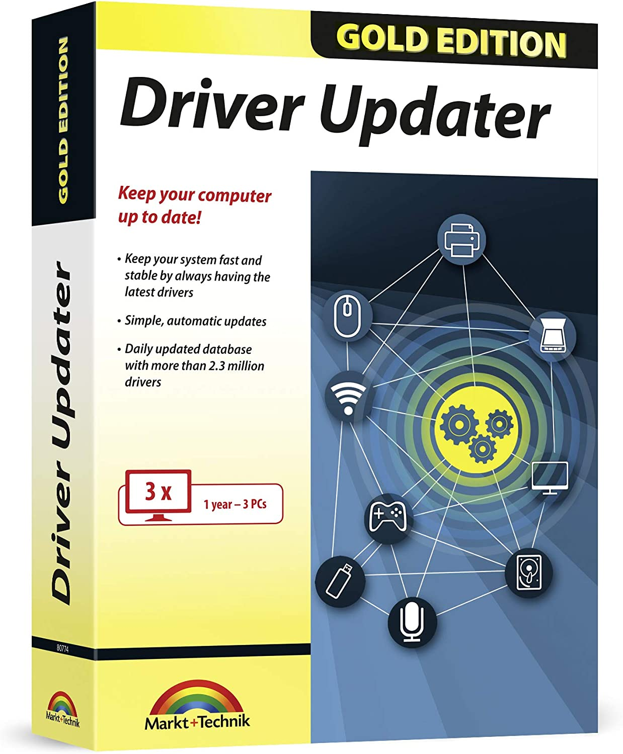 Driver Updater Gold Edition - always keep your drivers up-to-date for Windows 10, 8.1, 7 - keep your PC fast, safe and stable