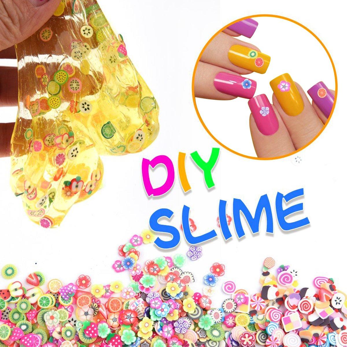 Novata Slime 36 Pack de Suministros para Bricolaje Manualidades, Incluye Espuma abalorio, Cuentas peceras, tarros de Glitter, rodajas de Frutas ect.para ...