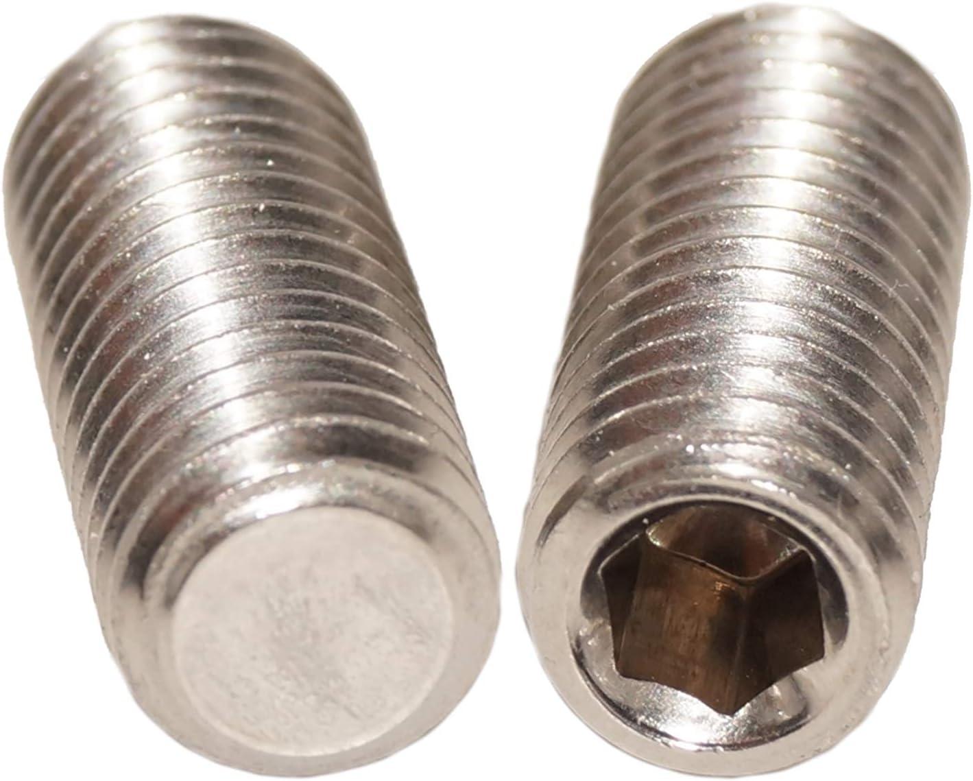 Gewindestifte M4x30 mit Innensechskant und Kegelkuppe 50 St/ück Madenschrauben ISO 4026 A2 Edelstahl