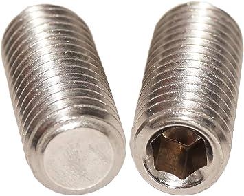- aus rostfreiem Edelstahl A2 ISO 4027 - SC914 DIN 914 V2A M4x6 - Gewindestifte mit Innensechskant und Spitze SC-Normteile 20 St/ück - Madenschrauben